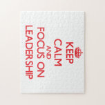 Keep Calm and focus on Leadership Puzzle