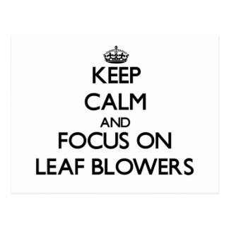Keep Calm and focus on Leaf Blowers Post Card