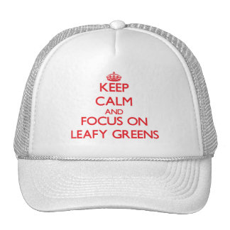 Keep Calm and focus on Leafy Greens Mesh Hat