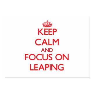 Keep Calm and focus on Leaping Business Card Templates