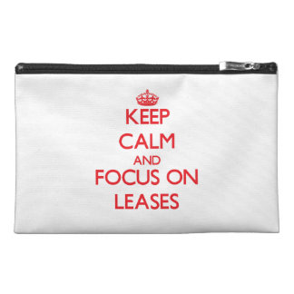 Keep Calm and focus on Leases Travel Accessory Bag