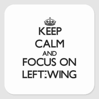 Keep Calm and focus on Left-Wing Sticker