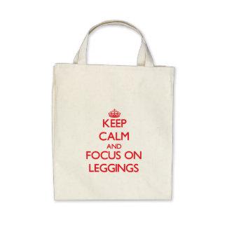 Keep Calm and focus on Leggings Tote Bag