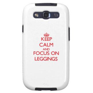 Keep Calm and focus on Leggings Samsung Galaxy S3 Case