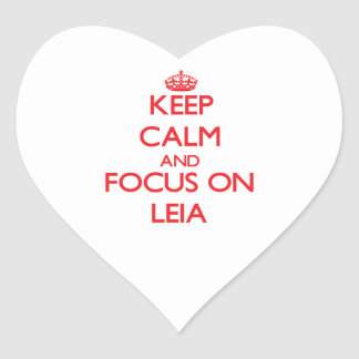 Keep Calm and focus on Leia Heart Sticker