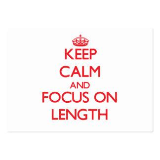 Keep Calm and focus on Length Business Card Templates