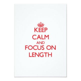 Keep Calm and focus on Length Personalized Announcements