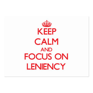 Keep Calm and focus on Leniency Business Card Templates