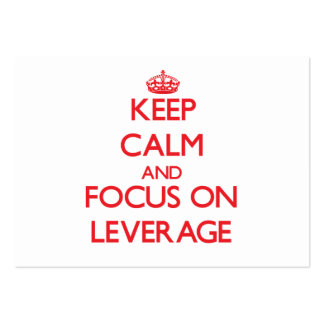 Keep Calm and focus on Leverage Business Card Template