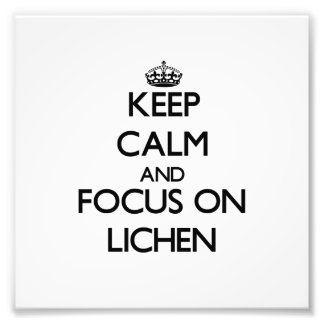 Keep Calm and focus on Lichen Photographic Print