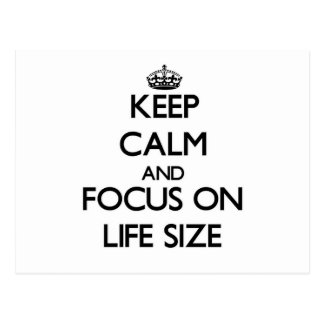 Keep Calm and focus on Life Size Post Card