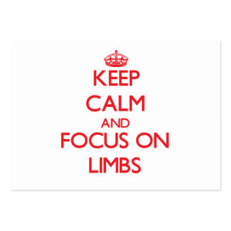 Keep Calm and focus on Limbs Large Business Cards (Pack Of 100)