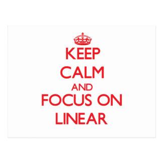 Keep Calm and focus on Linear Postcard
