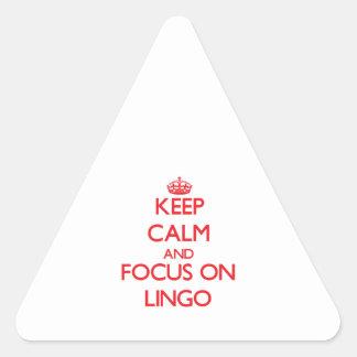 Keep Calm and focus on Lingo Triangle Sticker