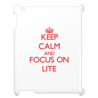 Keep Calm and focus on Lite Cover For The iPad 2 3 4