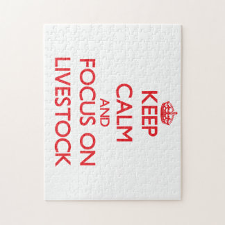 Keep Calm and focus on Livestock Puzzles