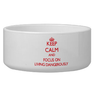 Keep Calm and focus on Living Dangerously Pet Food Bowls