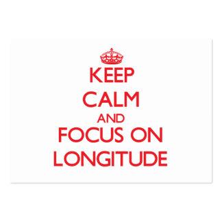 Keep Calm and focus on Longitude Business Card Templates