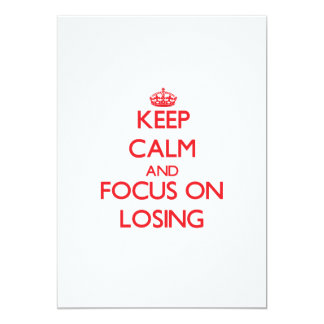 Keep Calm and focus on Losing Personalized Announcements