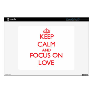 """Keep Calm and focus on Love Skin For 12"""" Laptop"""