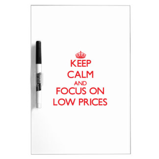 Keep Calm and focus on Low Prices Dry Erase Boards