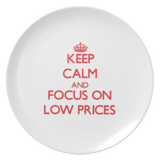 Keep Calm and focus on Low Prices Party Plates