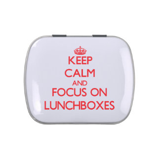 Keep calm and focus on Lunchboxes Jelly Belly Candy Tin