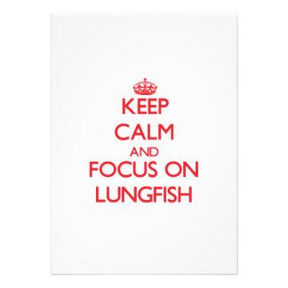 Keep calm and focus on Lungfish Custom Invites