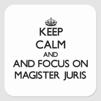 Keep calm and focus on Magister Juris Stickers