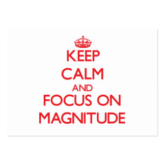 Keep Calm and focus on Magnitude Business Card Template