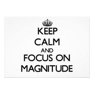 Keep Calm and focus on Magnitude Personalized Announcements