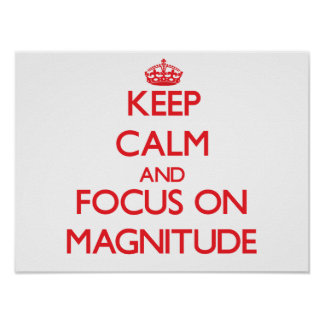 Keep Calm and focus on Magnitude Posters