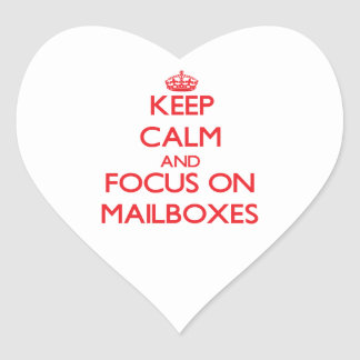 Keep Calm and focus on Mailboxes Heart Sticker