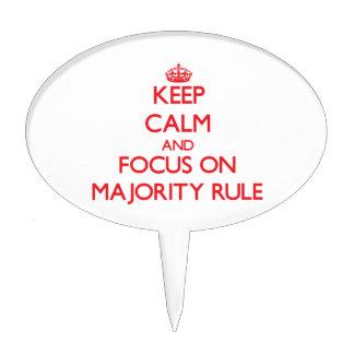 Keep Calm and focus on Majority Rule Cake Picks