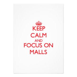 Keep Calm and focus on Malls Custom Invitations