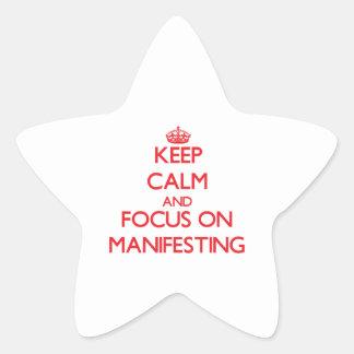 Keep Calm and focus on Manifesting Star Sticker