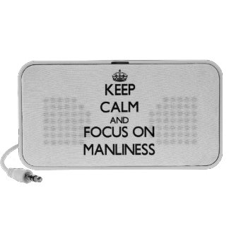 Keep Calm and focus on Manliness Travel Speakers