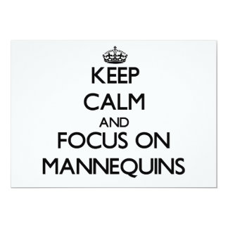 Keep Calm and focus on Mannequins 5x7 Paper Invitation Card