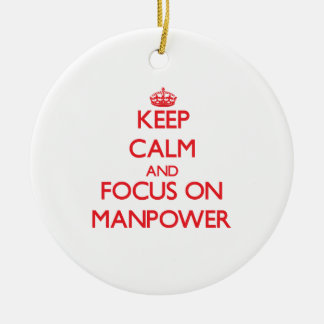 Keep Calm and focus on Manpower Ornaments