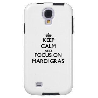 Keep Calm and focus on Mardi Gras Galaxy S4 Case