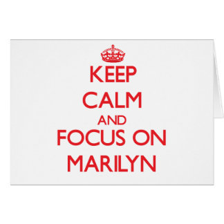 Keep Calm and focus on Marilyn Card