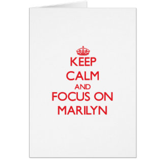 Keep Calm and focus on Marilyn Cards
