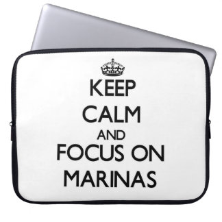 Keep Calm and focus on Marinas Laptop Computer Sleeves