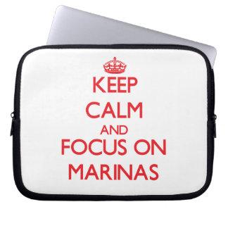 Keep Calm and focus on Marinas Laptop Sleeve