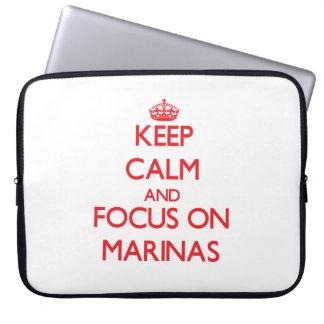 Keep Calm and focus on Marinas Laptop Sleeves