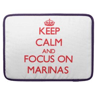 Keep Calm and focus on Marinas MacBook Pro Sleeve