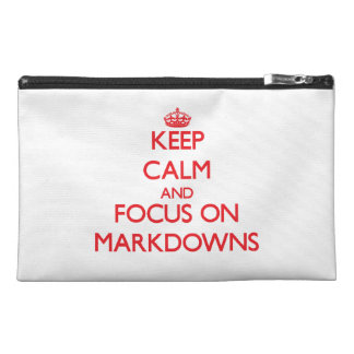 Keep Calm and focus on Markdowns Travel Accessory Bags