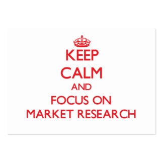 Keep Calm and focus on Market Research Large Business Cards (Pack Of 100)