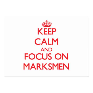 Keep Calm and focus on Marksmen Business Card