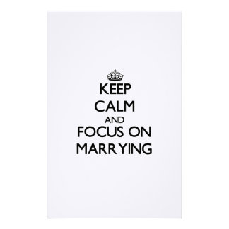 Keep Calm and focus on Marrying Stationery Design
